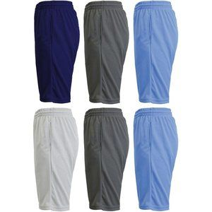 6-Pack Men's Mositure-Wicking Active Shorts
